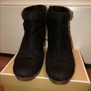 Shoes - Black wedge booties
